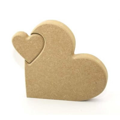Heart In Heart MDF - Freestanding Heart In Heart (18mm)