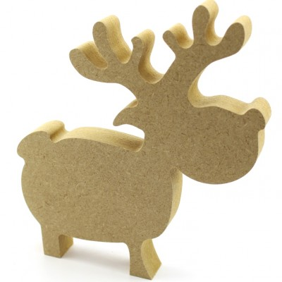 18mm MDF Reindeer Freestanding 15cm Pack of 5