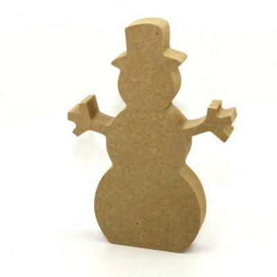 MDF Freestanding Snowman 12cm
