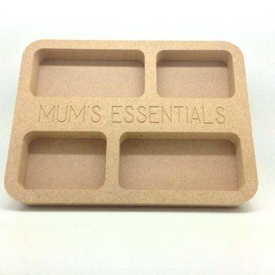 Mum's Essentials Tray 20cm MDF