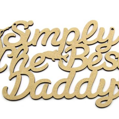 Simply The Best Daddy - Fishing Plaque