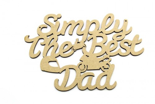 Simply The Best Dad Motorbike Plaque