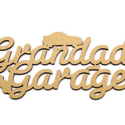 Grandads Garage Plaque