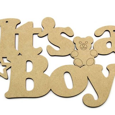 Its a Boy MDF Plaque
