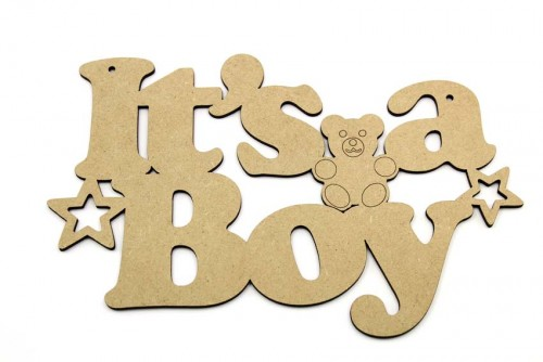 Its a Boy MDF Plaque