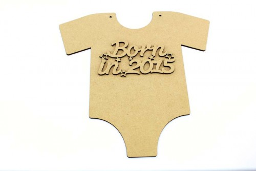 New Baby Vest Plaque