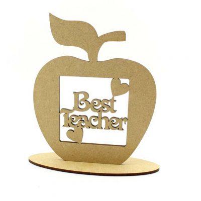 Best Teacher Apple Shape on Plinth MDF Plaque