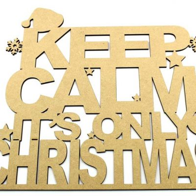Keep Calm Its Only Christmas Sign