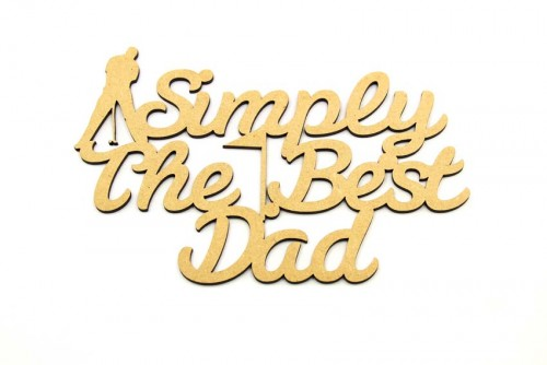 Simply The Best Dad - Golf Plaque