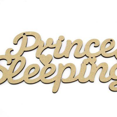 Prince Sleeping MDF Plaque