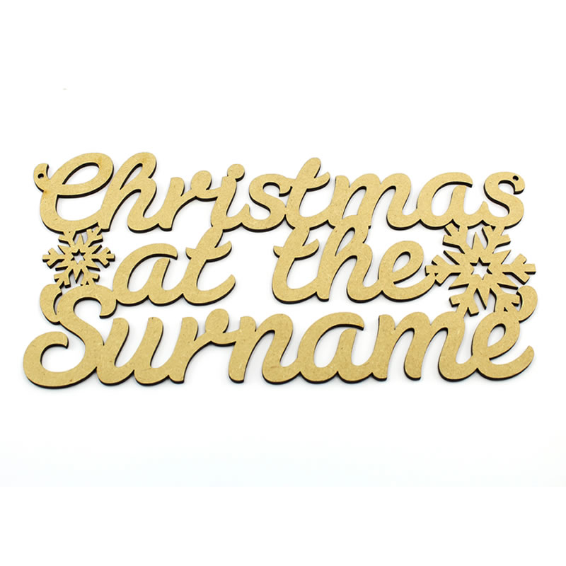 Personalised Christmas Plaque Christmas at the Surname