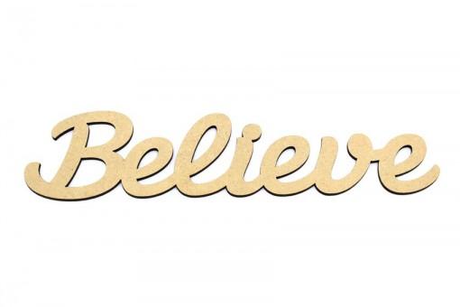 Believe MDF Script Word