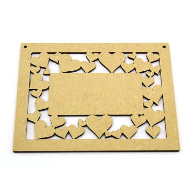 MDF Heart Plaque