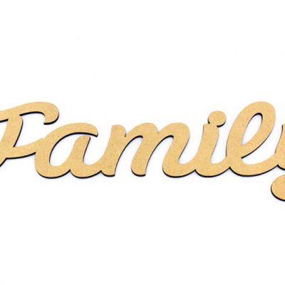 Family Script Word MDF