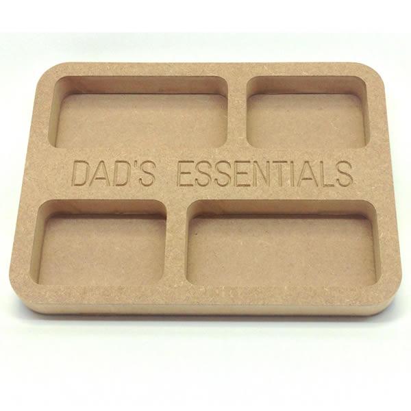 Dad's Essentials Tray 20cm MDF