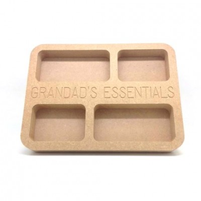 Grandads Essentials Tray 20cm MDF Gift Pack of 25