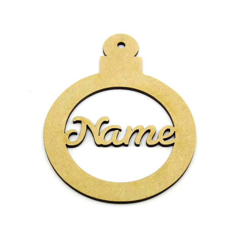 Personalised MDF Christmas Bauble
