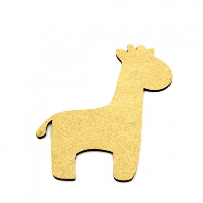 MDF Giraffe Craft Shape