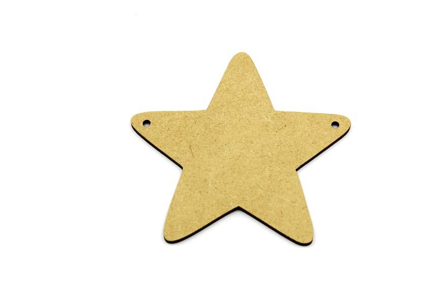 Star Bunting - 3mm MDF Star Bunting