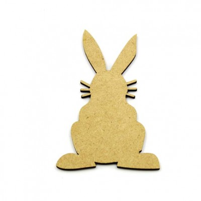 Rabbit Bunny Cute mdf with whiskers