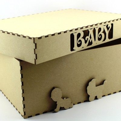 New Baby Box - MDF Gift/Storage Box
