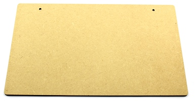 Blank MDF Plaque - Plain Rectangular Plaque - 3mm MDF