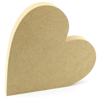 Freestanding Heart - 18mm MDF Heart
