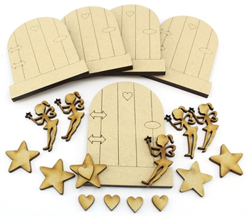 MDF Fairy Doors 6mm