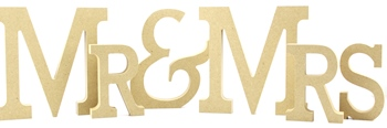 Mr & Mrs Freestanding MDF Letters