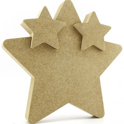 18mm MDF Freestanding Star with 2 Star cutouts