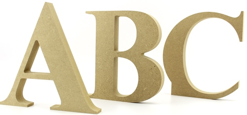 18mm MDF Freestanding Times New Roman Bold Letters