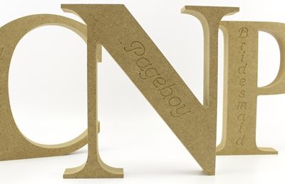 Engraved MDF Letters - 18mm Freestanding Times New Roman Bold