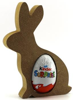 Kinder Egg Holder Sitting Bunny Rabbit Freestanding MDF