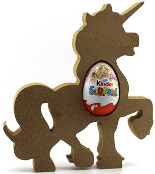 Kinder Egg Holder Unicorn Freestanding MDF