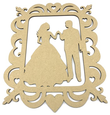 Bride and Groom Wedding Frame Plaque