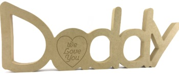 Freestanding Daddy Sign Engraved