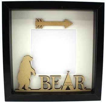 Standing Bear Plaque - Frame Filler Papa, Mama, Baby Bear