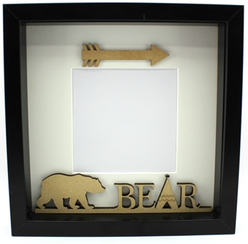 Walking Bear Plaque - Frame Filler Papa, Mama, Baby Bear