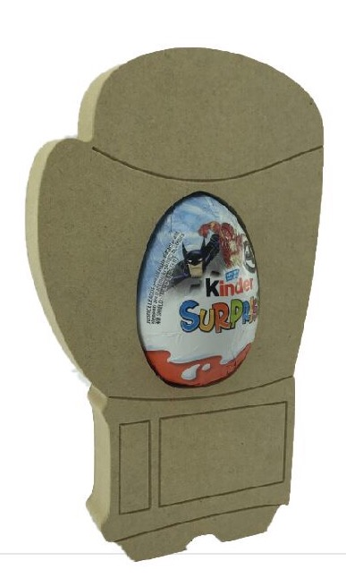 Boxing glove Kinder Egg Holder -Freestanding MDF