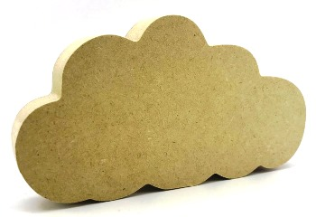 18mm MDF Freestanding cloud 15cm