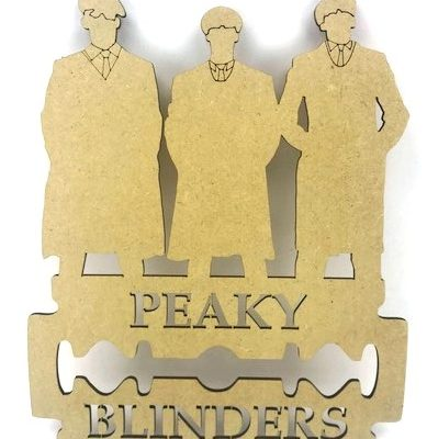 Peaky Blinders MDF Plaque Men with Blade