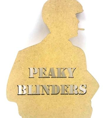 Peaky Blinders Mdf Plaque - Smoking Man Silhouette