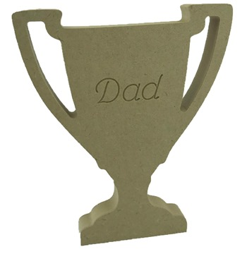 18mm MDF Trophy Engraved Dad
