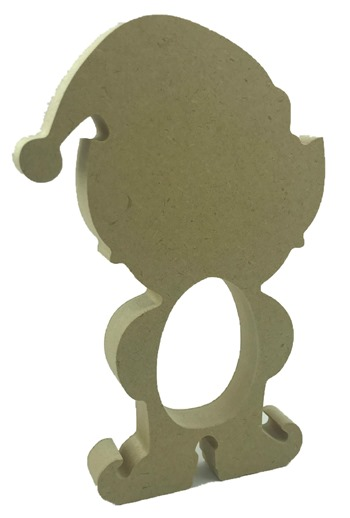 18mm MDF Freestanding Elf Boy Kinder Egg Holder Pack of 5
