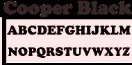 6mm MDF Letters 9cm High Cooper Black Font