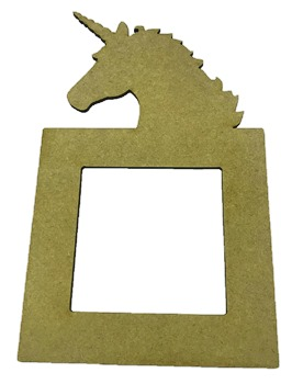Unicorn Light Switch Surround 3mm MDF Laser Cut