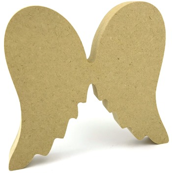 18mm MDF Freestanding Angel Shape Wings