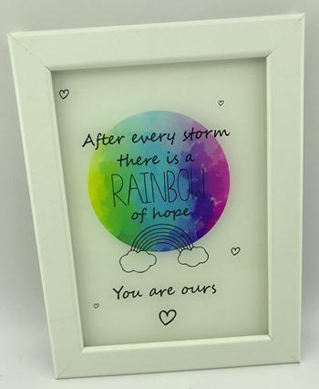 Rainbow Baby Frame