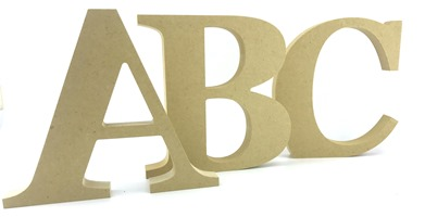 18mm MDF Freestanding Georgia Font Letters