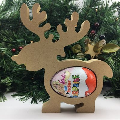 Cute Kinder Egg Holder - Reindeer Freestanding MDF